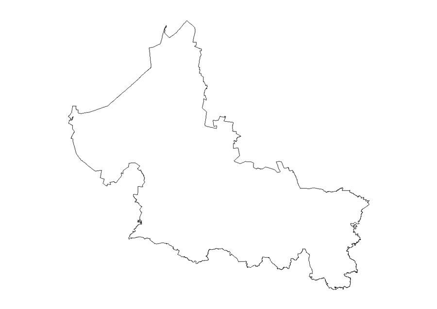 Estado de San Luis Potosí dibujado con lápiz en blanco y negro